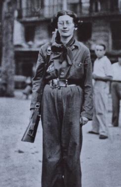 Simone Weil pendant la guerre d'Espagne...