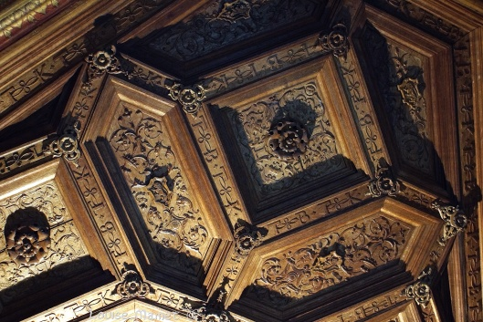 Plafond de la Librairie, datant de 1525... The Library's ceiling, dating from 1525...
